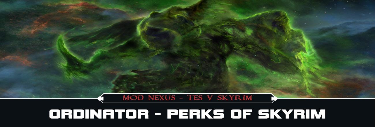 TES V Mods – Ordinator Perks of Skyrim