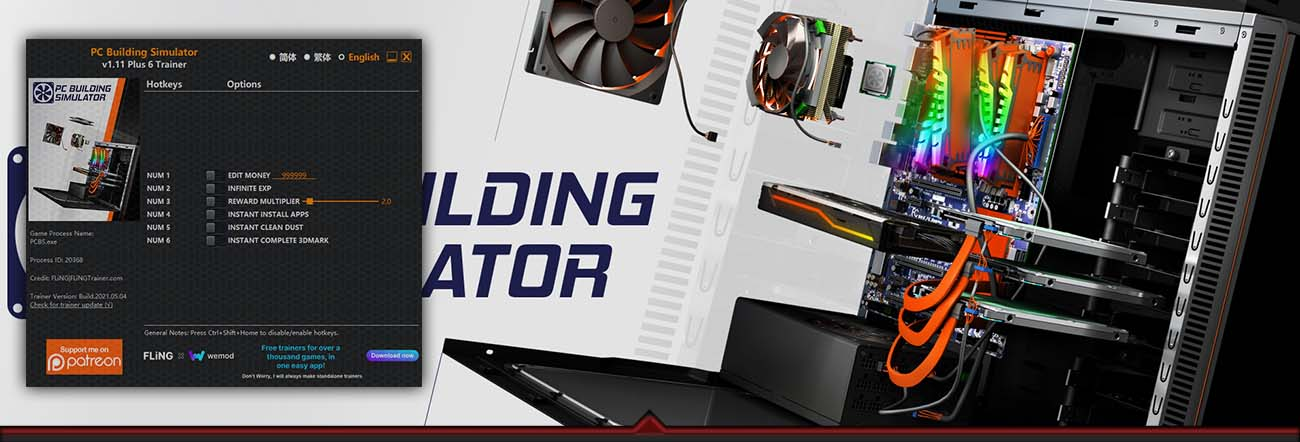 PC Building Simulator – Trainer FLiNG