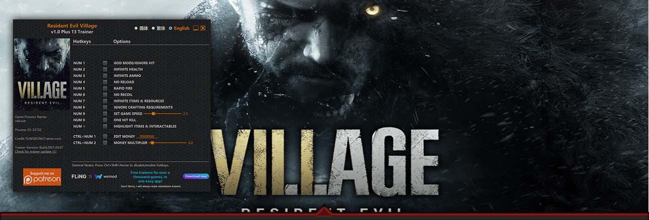 Resident Evil Village – Trainer FLiNG