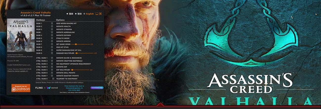 Assassin's Creed Valhalla – Trainer FLiNG