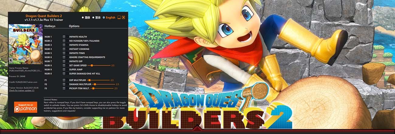Dragon Quest Builders 2 – Trainer FLiNG