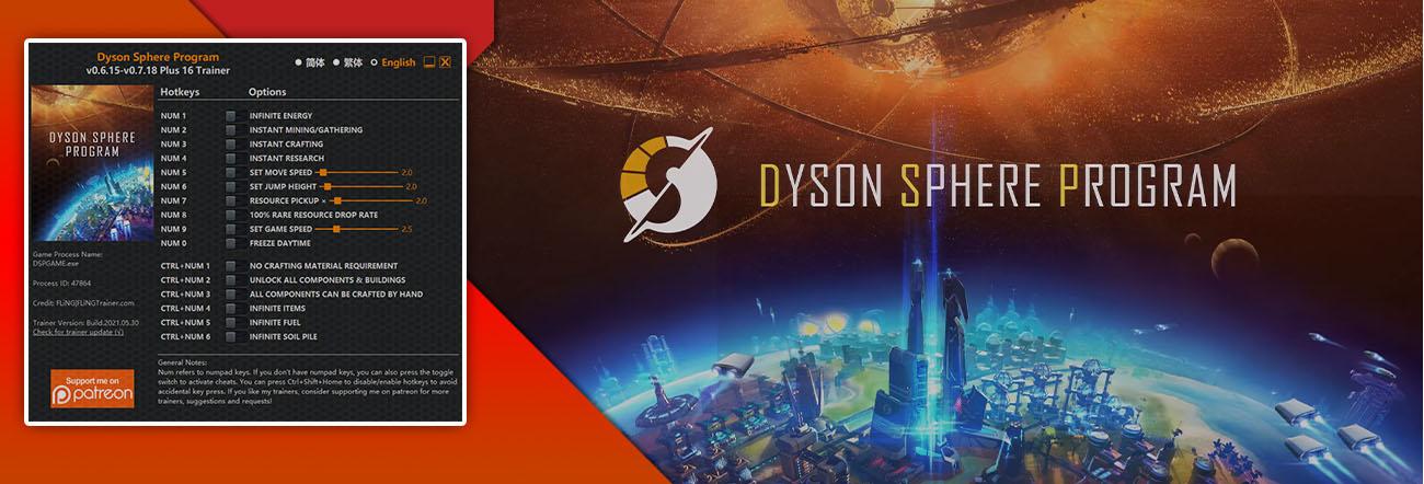 Dyson Sphere Program – Trainer FLiNG