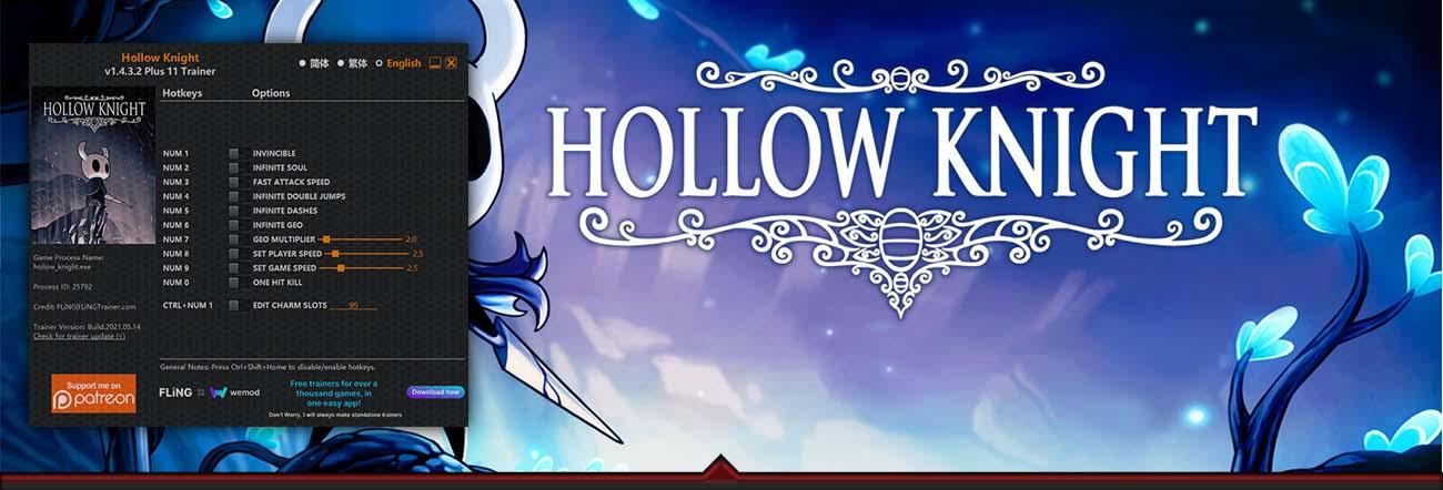 Hollow Knight – Trainer FLiNG