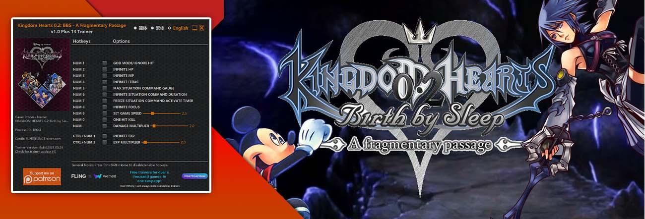 Kingdom Hearts 0.2: Birth by Sleep – A Fragmentary Passage – Trainer FLiNG