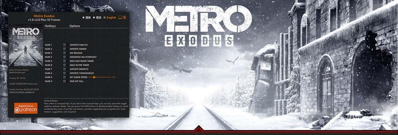 Metro Exodus – Trainer FLiNG