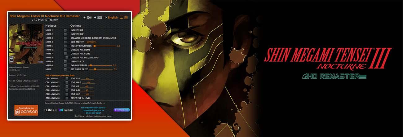 Shin Megami Tensei III Nocturne HD Remaster – Trainer FLiNG