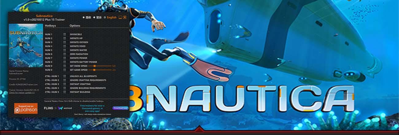 Subnautica – Trainer FLiNG