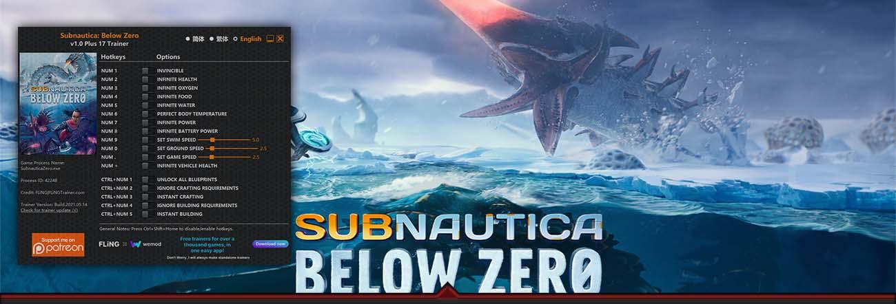 Subnautica: Below Zero – Trainer FLiNG