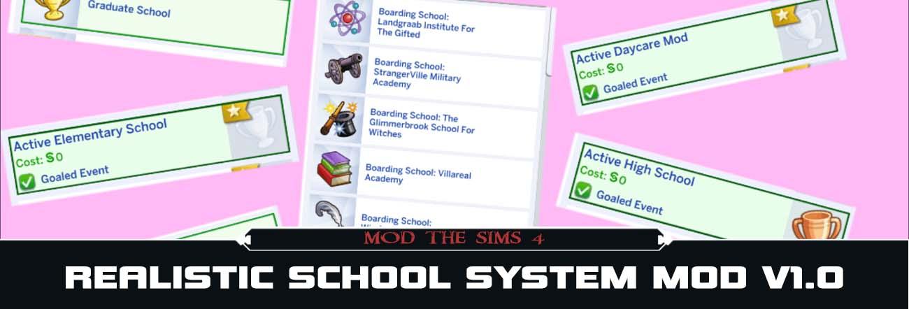Realistic School System – TS4 Mods