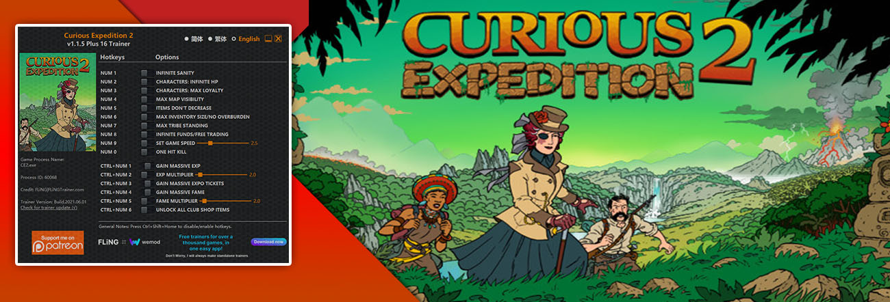 Curious Expedition 2 – Trainer FLiNG
