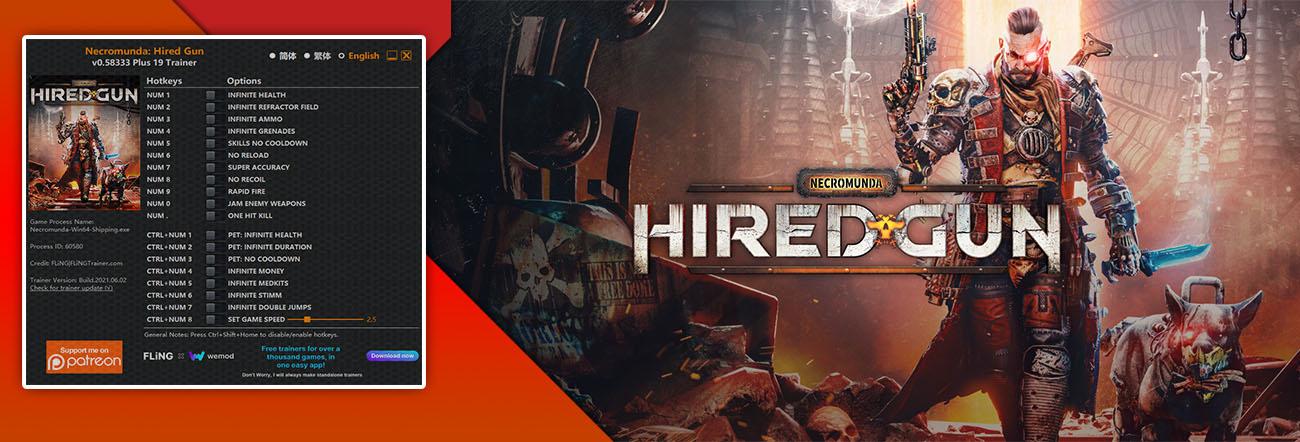 Necromunda: Hired Gun – Trainer FLiNG