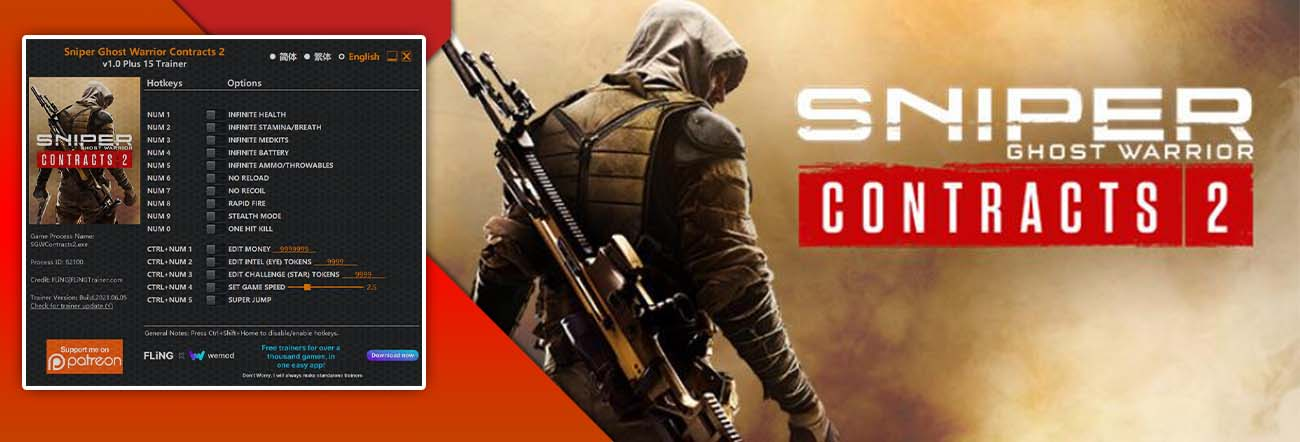 Sniper Ghost Warrior Contracts 2 – Trainer FLiNG