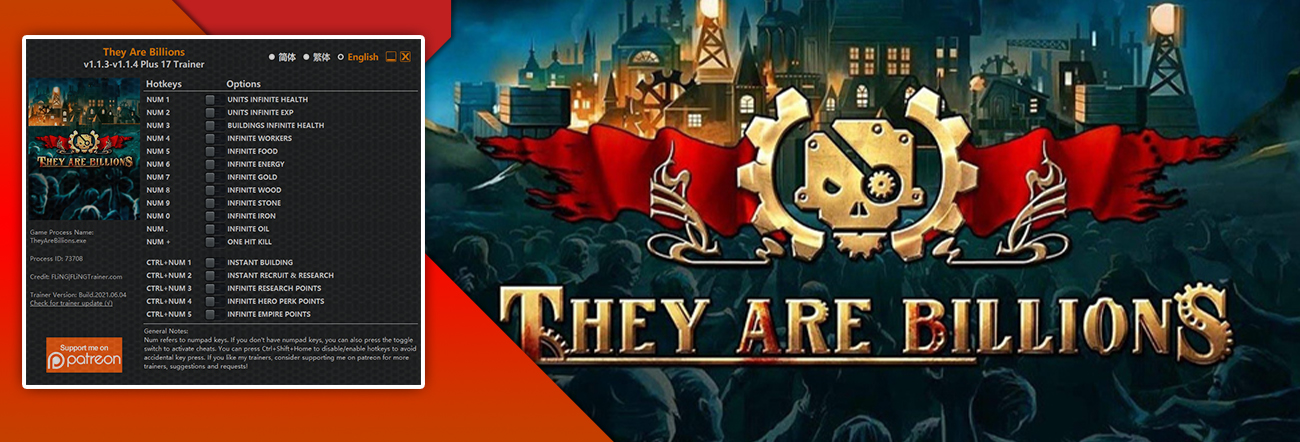 They Are Billions – Trainer FLiNG